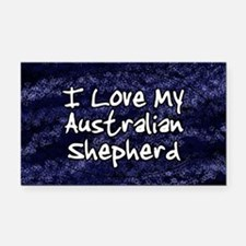 australianshep_funklove_oval Rectangle Car Magnet