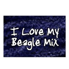 beaglemix_funklove_oval Postcards (Package of 8)