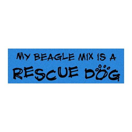 beaglemix_rescuedog 20x6 Wall Decal