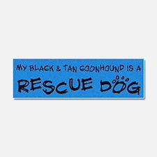 blackandtan_rescuedog Car Magnet 10 x 3