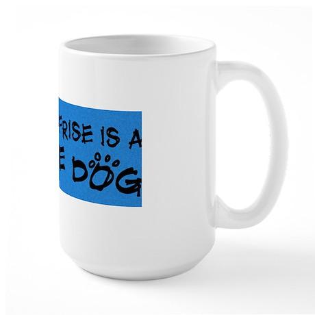 bichon_rescuedog Large Mug