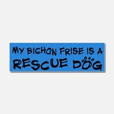 bichon_rescuedog Car Magnet 10 x 3