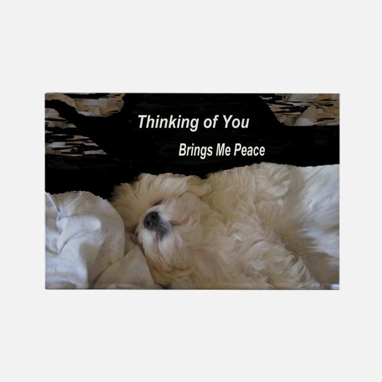 Thinking of You Brings Me Peace - Rectangle Magnet