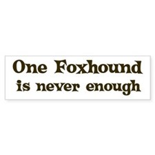 One Foxhound Bumper Car Car Sticker