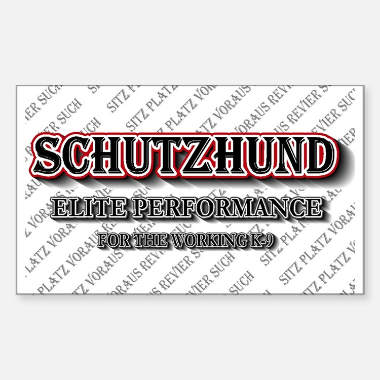 Schutzhund Elite Performance Rectangle Decal