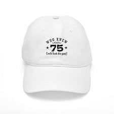 Funny 75th Birthday Cap