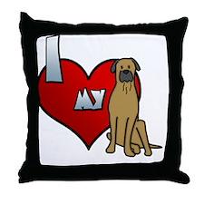 iheartmy_bullmastiff Throw Pillow