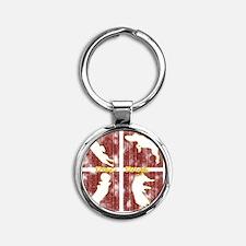 redboxes_discdogs Round Keychain