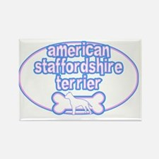 cutesy_amerstaff_oval Rectangle Magnet