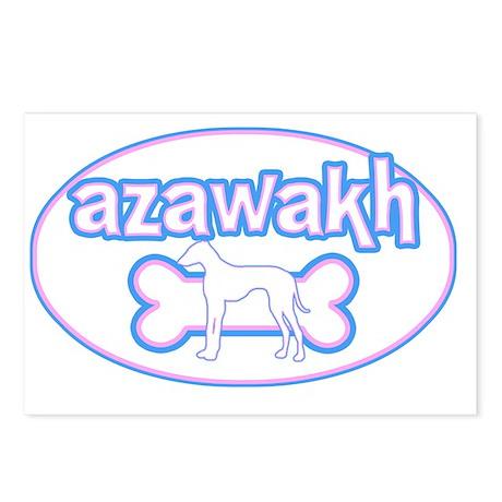 cutesy_azawakh_oval Postcards (Package of 8)
