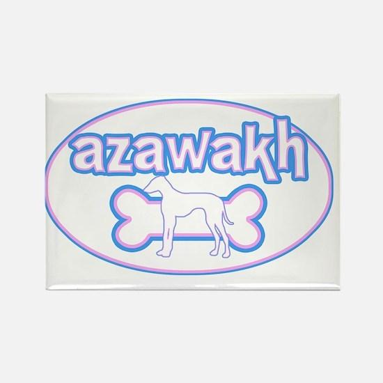 cutesy_azawakh_oval Rectangle Magnet