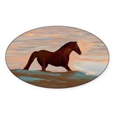 Horse On The Shoreline by Lin Maste Decal