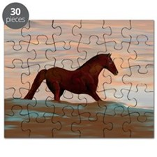 Horse On The Shoreline by Lin Masters Puzzle