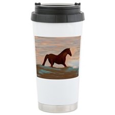 Horse On The Shoreline by Lin M Travel Mug