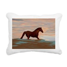 Horse On The Shoreline b Rectangular Canvas Pillow