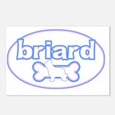 cutesy_briard_oval Postcards (Package of 8)