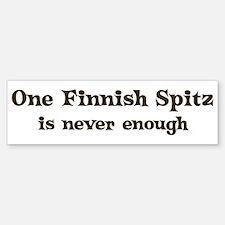 One Finnish Spitz Bumper Bumper Bumper Sticker