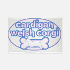 cutesy_cardigan_oval Rectangle Magnet