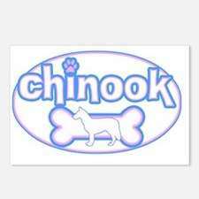 cutesy_chinook_oval Postcards (Package of 8)