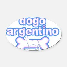 cutesy_dogo Oval Car Magnet