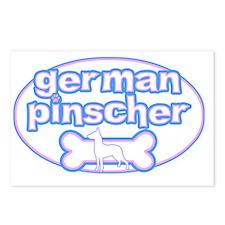 cutesy_germanpinsch_oval Postcards (Package of 8)