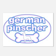 cutesy_germanpinsch_oval Postcards (Package of 8)