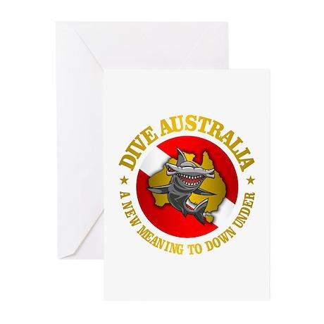 Dive Australia (hammerhead) Greeting Cards (Pk of