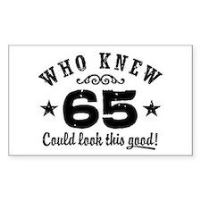 Funny 65th Birthday Decal