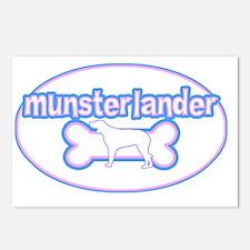 cutesy_munsterlander_oval Postcards (Package of 8)
