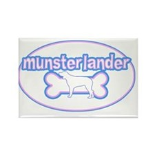 cutesy_munsterlander_oval Rectangle Magnet