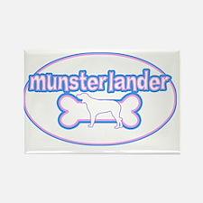 cutesy_munsterlander_oval Rectangle Magnet