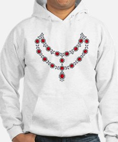 Two row ruby necklace Hoodie