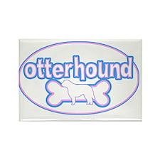 cutesy_otterhound_oval Rectangle Magnet