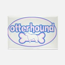 cutesy_otterhound_oval Rectangle Magnet