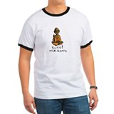 Buddha in sweet nirvana for use on white backgrou Ringer T