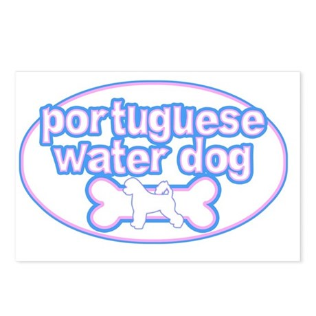 cutesy_portuguese_oval Postcards (Package of 8)