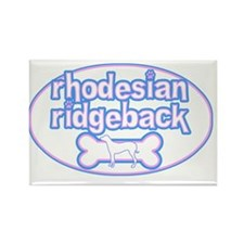 cutesy_rhodesian_oval Rectangle Magnet