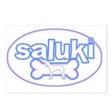 cutesy_saluki_oval Postcards (Package of 8)