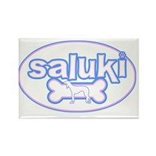 cutesy_saluki_oval Rectangle Magnet