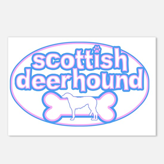 cutesy_scottishdeer_oval Postcards (Package of 8)