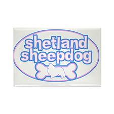 cutesy_shetland_oval Rectangle Magnet