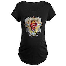 Epilepsy Cross & Heart Maternity T-Shirt