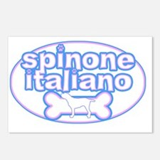 cutesy_spinone_oval Postcards (Package of 8)