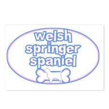 cutesy_welshspringer_oval Postcards (Package of 8)