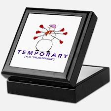 TEMPORARY EMPLOYEE Keepsake Box