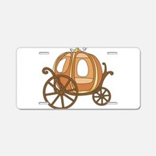 Pumpkin Carriage Aluminum License Plate
