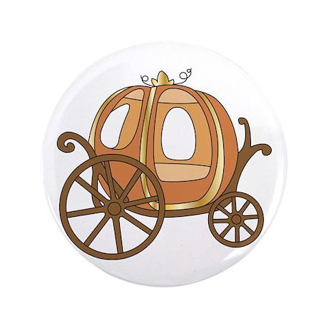 """Pumpkin Carriage 3.5"""" Button (100 pack)"""