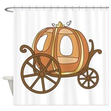 Pumpkin Carriage Shower Curtain