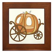 Pumpkin Carriage Framed Tile