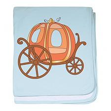 Pumpkin Carriage baby blanket